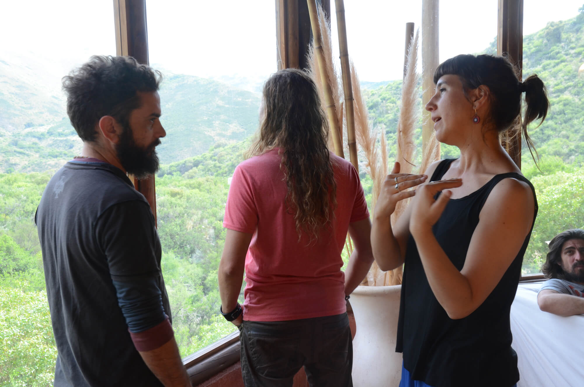 Sofía junto a Pablo Pino, cantante de Cielo Razzo